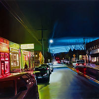 Oil painting SE Division Night by Shawn Demarest