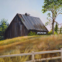 Oil painting Sherwood Barn by Jeanie Bates