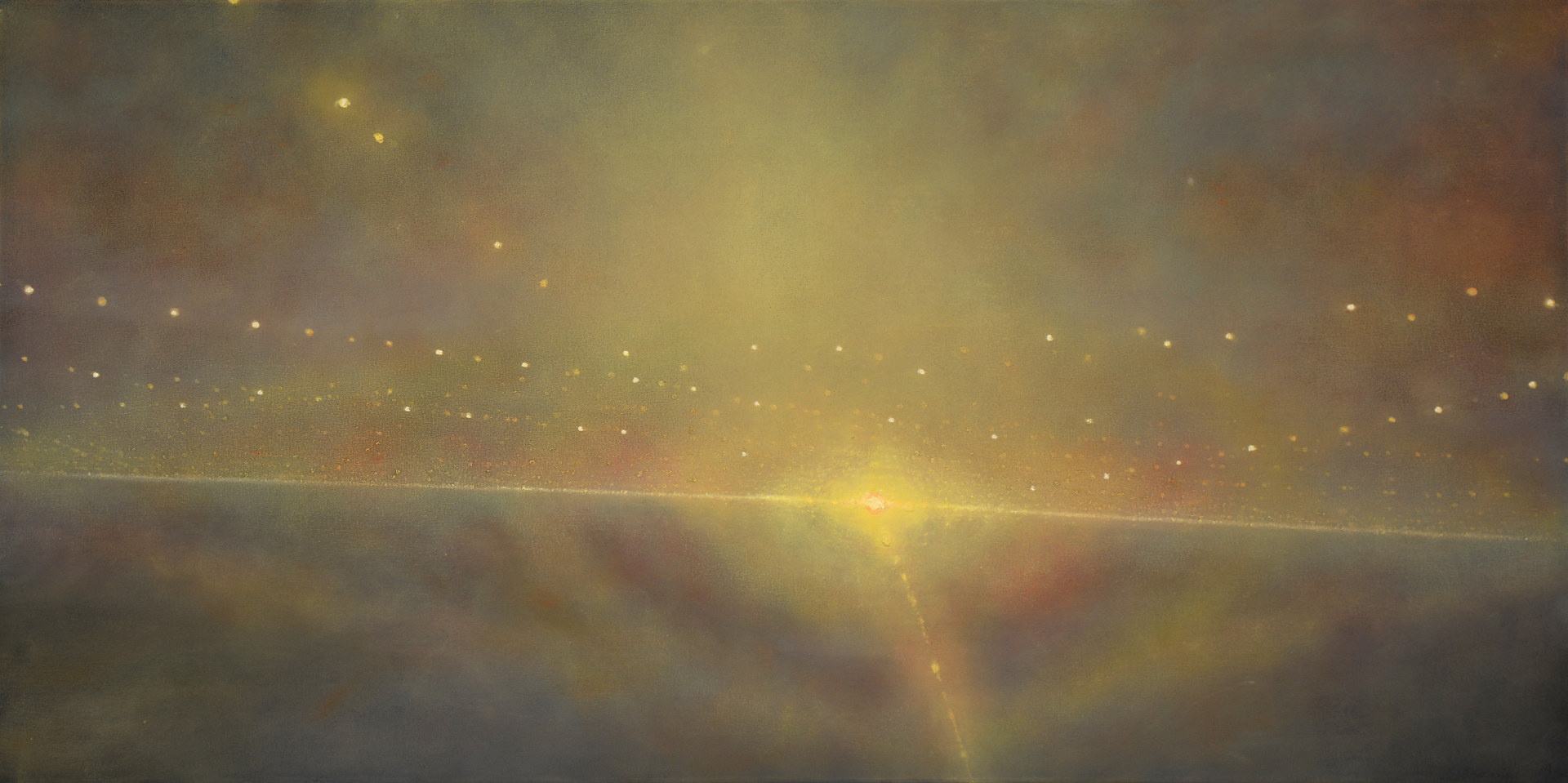Oil painting SEARCHLIGHT # 2 by Dennis Ekstedt