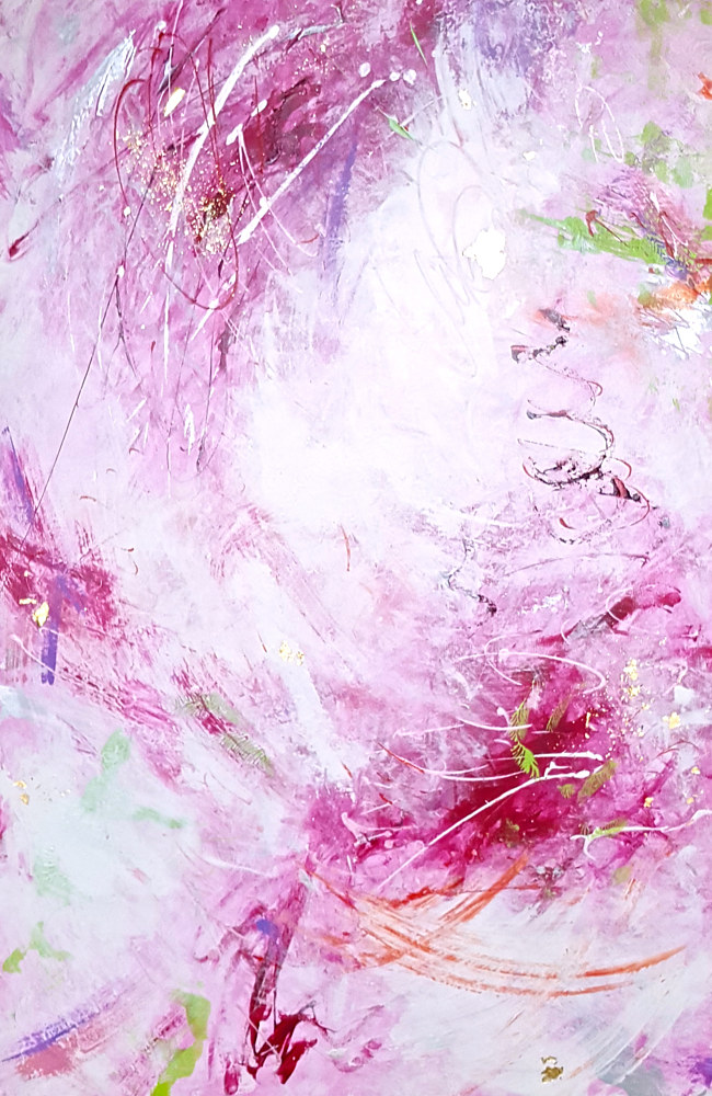 Acrylic painting Femina Vortex by Laura Spring