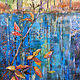Acrylic painting Pieces of Fall by Marty Husted