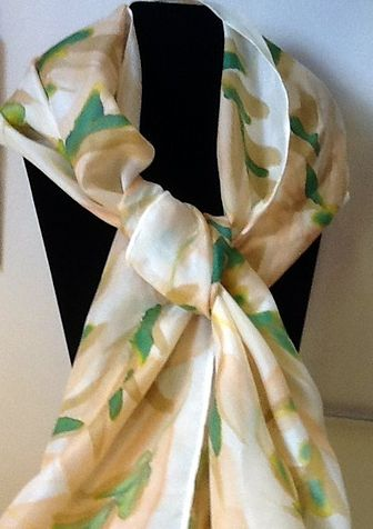 Hand Painted Scarf by Vicki Allesia
