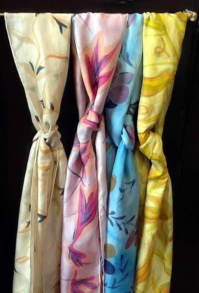 Hand Painted Scarves by Vicki Allesia