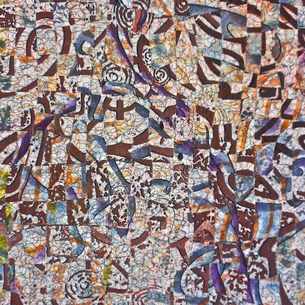 Painting Interwoven Paths, 3, Jeanie Auseon and Joyce Kwasnik by Jeanie Auseon