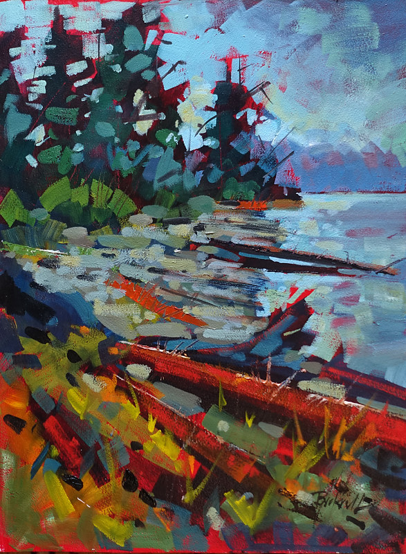 Island Shores  Oil 12x16 2017 by Brian  Buckrell