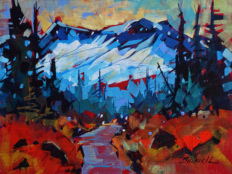 Path Up Strathcona  Acrylic 12x16 2017 by Brian  Buckrell
