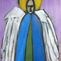 Oil painting angel by Michele Ridgeway