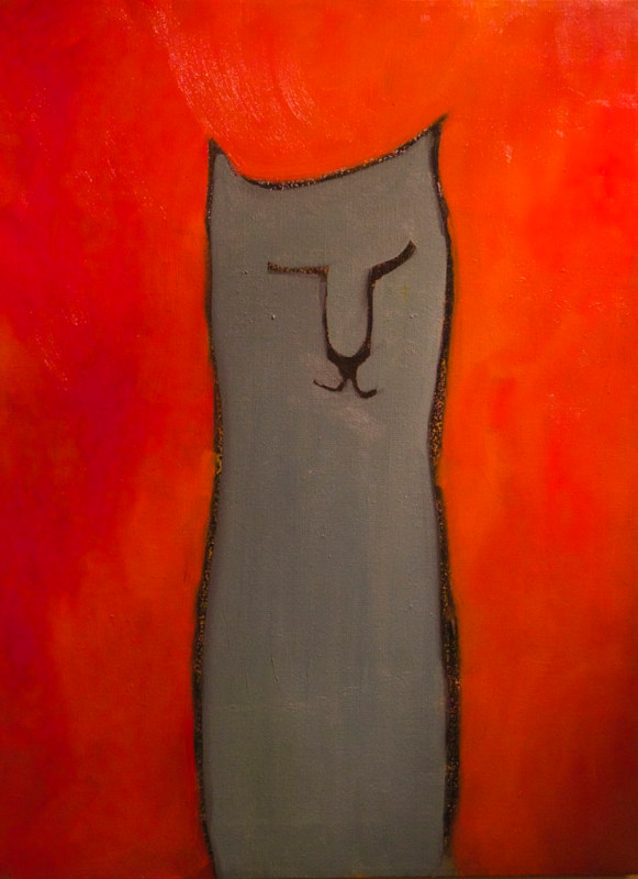 Oil painting cat by Michele Ridgeway