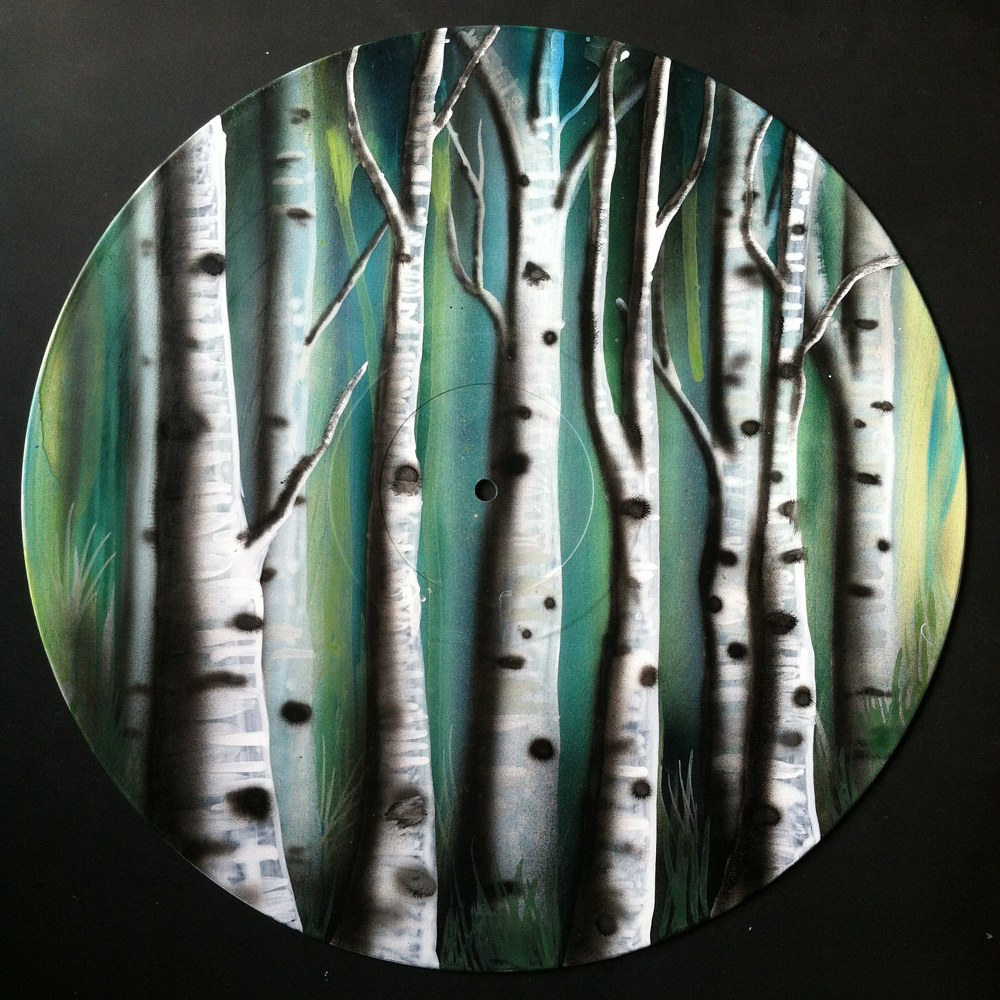 Painting Ghost Aspens  by Isaac Carpenter