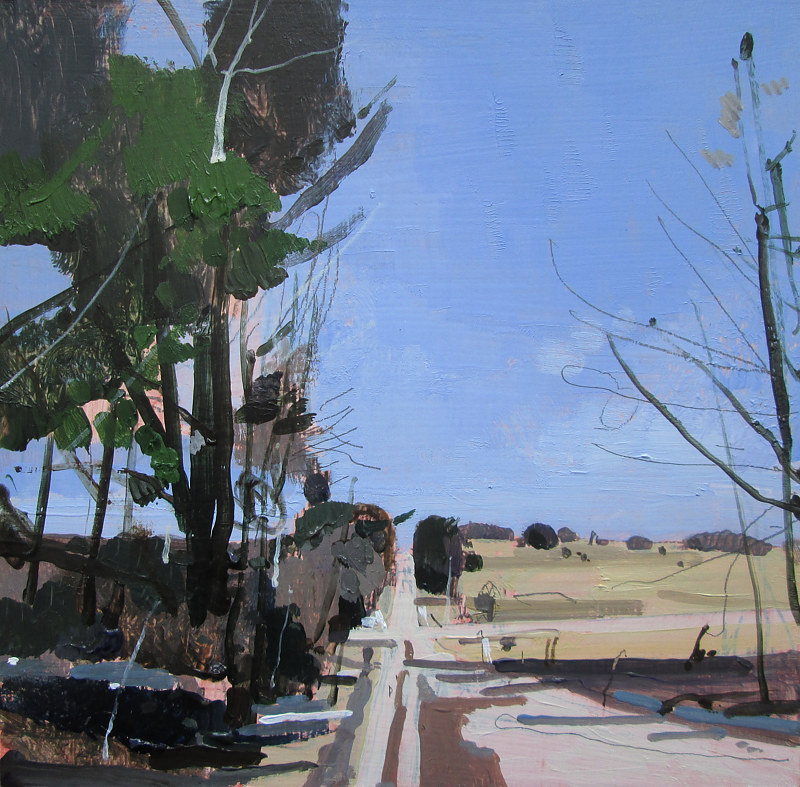 Acrylic painting March Road by Harry Stooshinoff