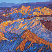 Oil painting Sun It Rises (From Boulder Peak) by Crystal Dipietro