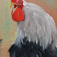 Crowing  Rooster by Barbara Haviland
