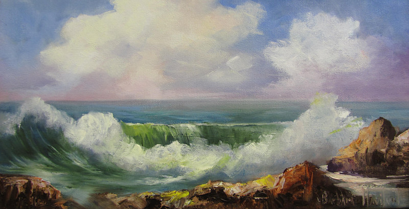 Oil painting Sea With Wave by Barbara Haviland