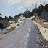 Acrylic painting March Climb, Beaver Dam Road by Harry Stooshinoff