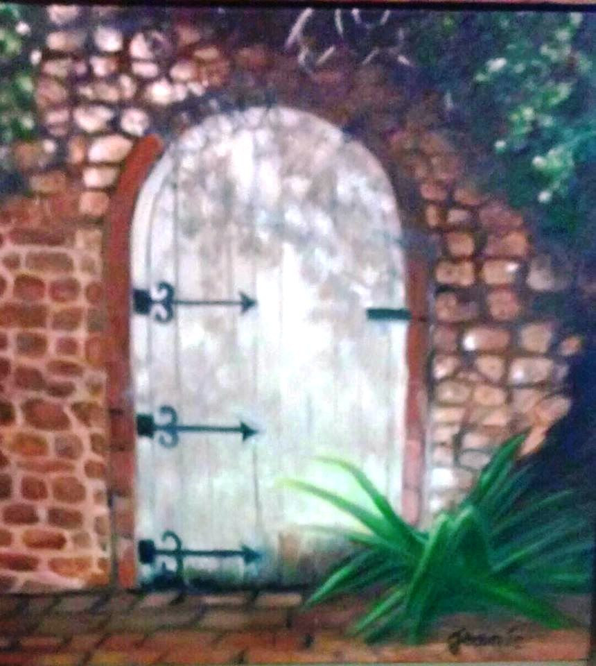 Oil painting Gate 1 by Jeanie Bates