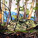 Oil painting Watagan Bush rock and trees  by Guntis Jansons