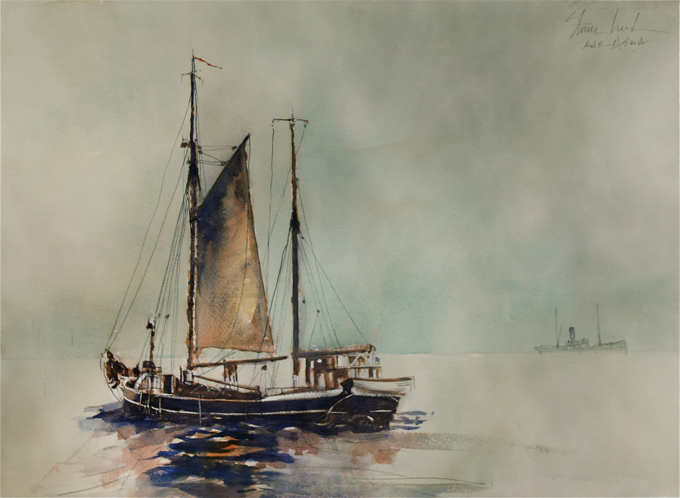 Watercolor Out from Bremerhaven by Nella Lush