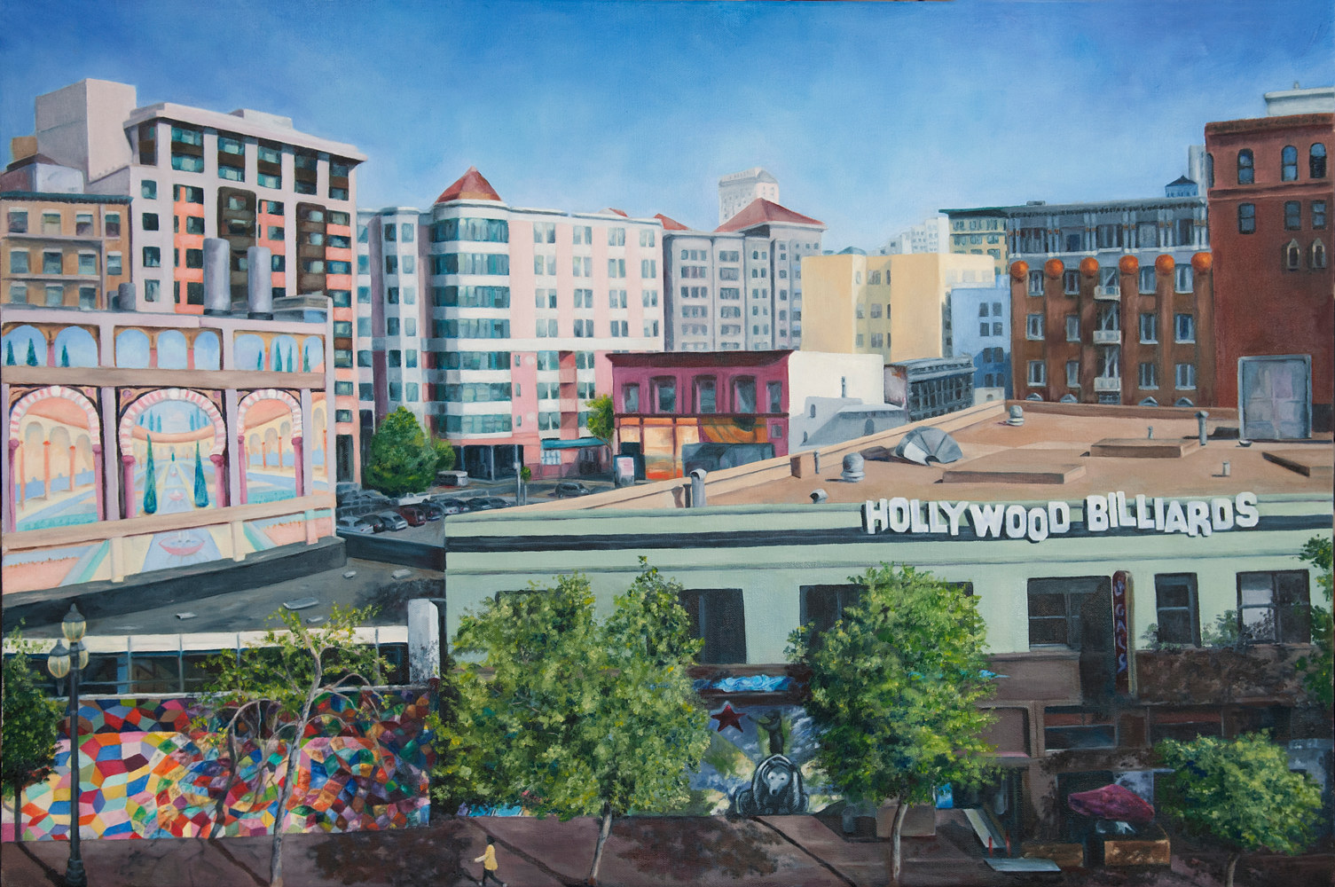 Oil painting Above Market Street by Kathleen Gross