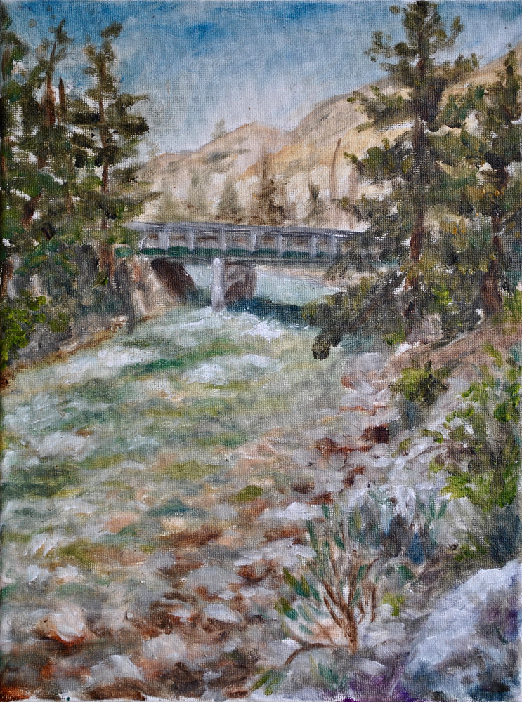 Oil painting Afternoon on Grey's River by Victoria Avila