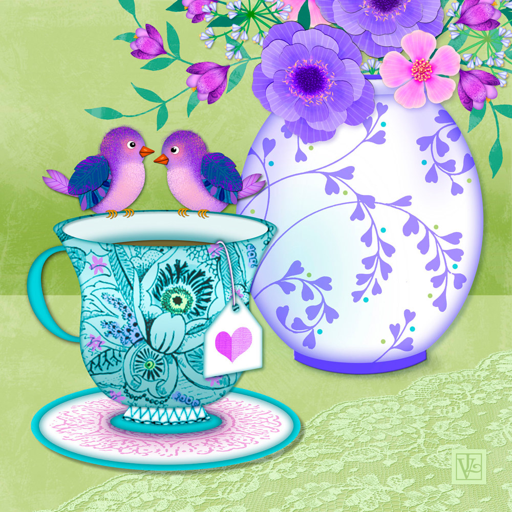 Tea for Two  by Valerie Lesiak