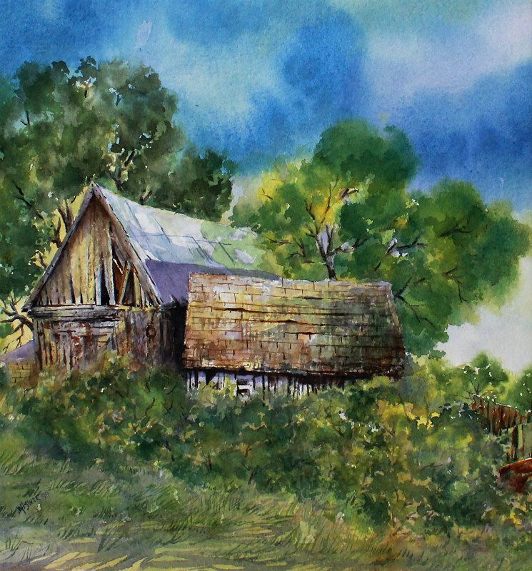 Watercolor Not Forgotten by Wanda Hawse