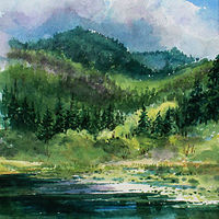 Painting Early  Summer by Wanda Hawse