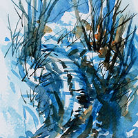 Watercolor Winter Impression #2 by Wanda Hawse