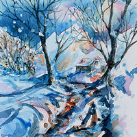 Winter Impression #4 by Wanda Hawse
