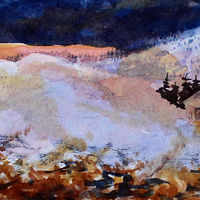 Watercolor Winter Evening #3 by Wanda Hawse