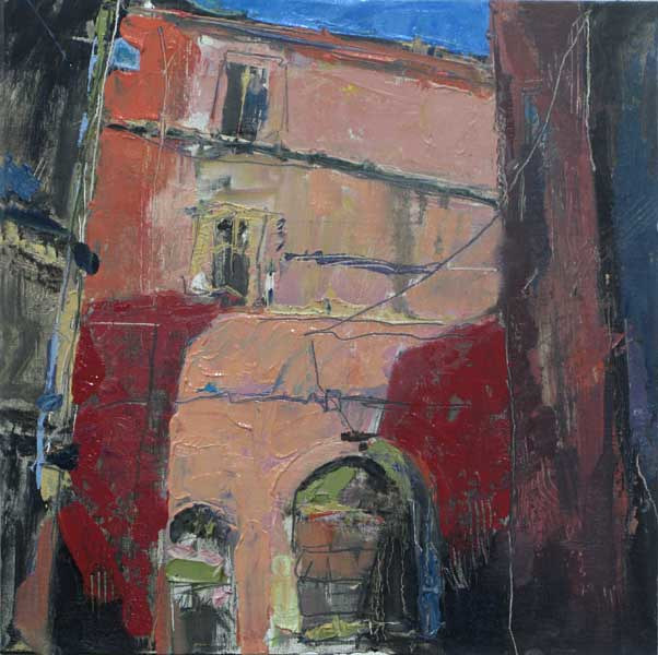 Oil painting Italian Alleyway by William Sharp