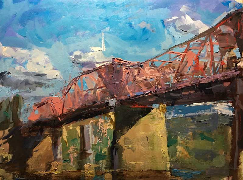 Oil painting Broadsay Bridge SOLD by William Sharp