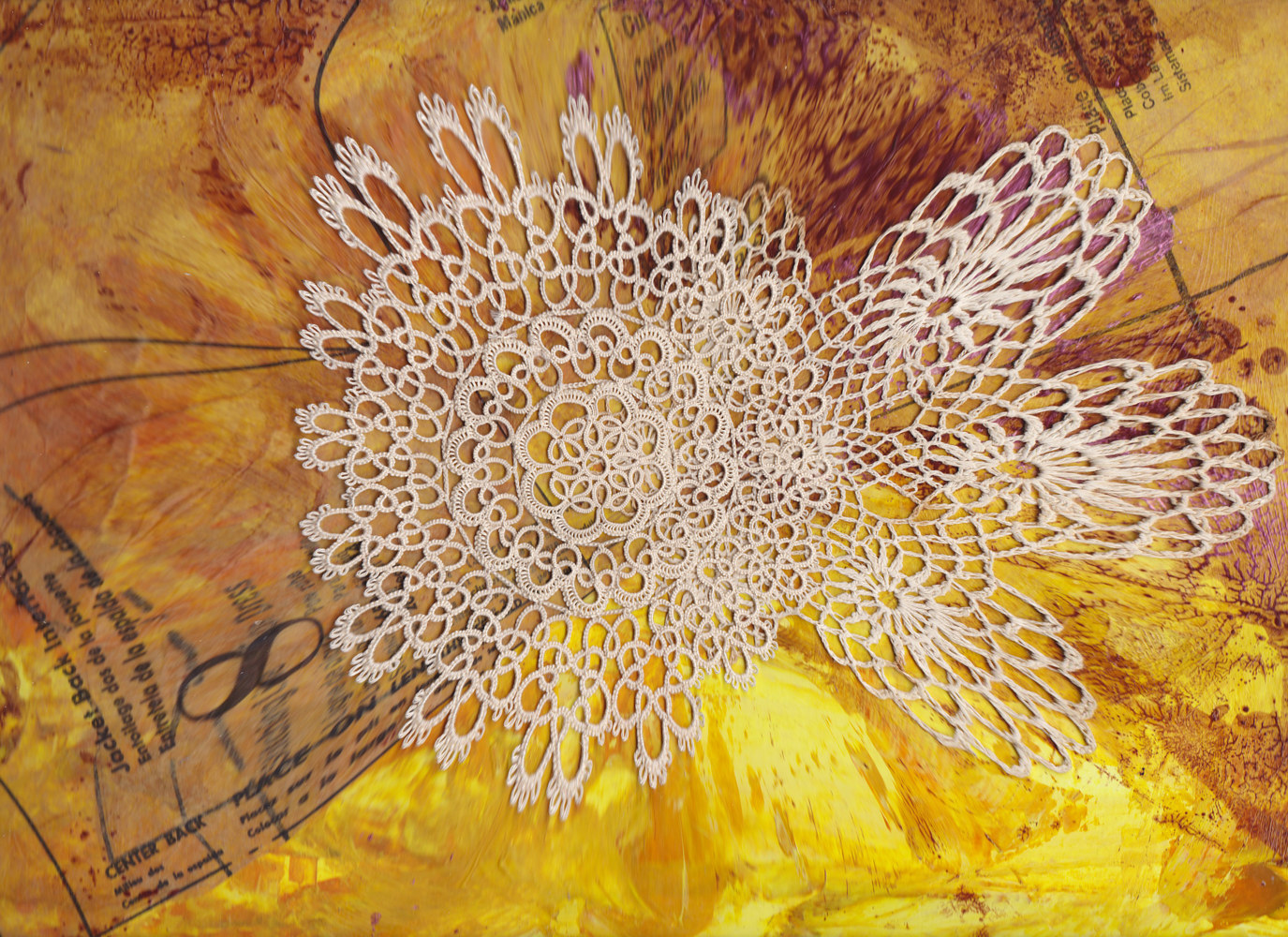 Photography Yellow Lace by Pamela Pitt