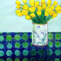 Painting Amy Kaufman, Yellow Tulips by Amy Kaufman