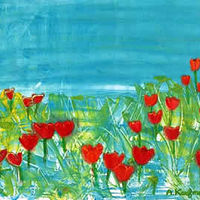 Amy Kaufman, Field of Red Tulips by Amy Kaufman