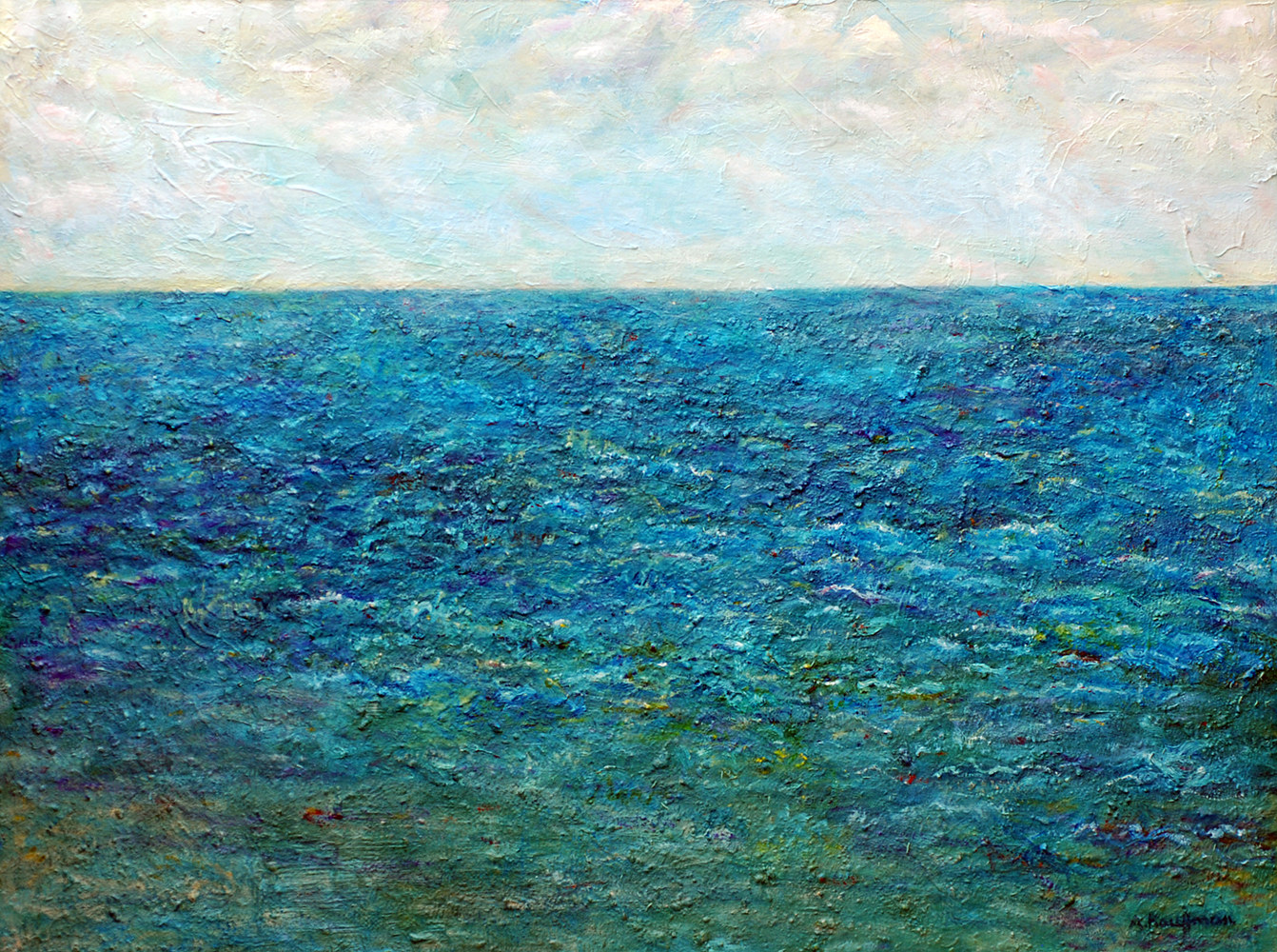 Mixed-media artwork Amy Kaufman Ocean by Amy Kaufman