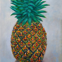 Oil painting Amy Kaufman, Pineapple by Amy Kaufman