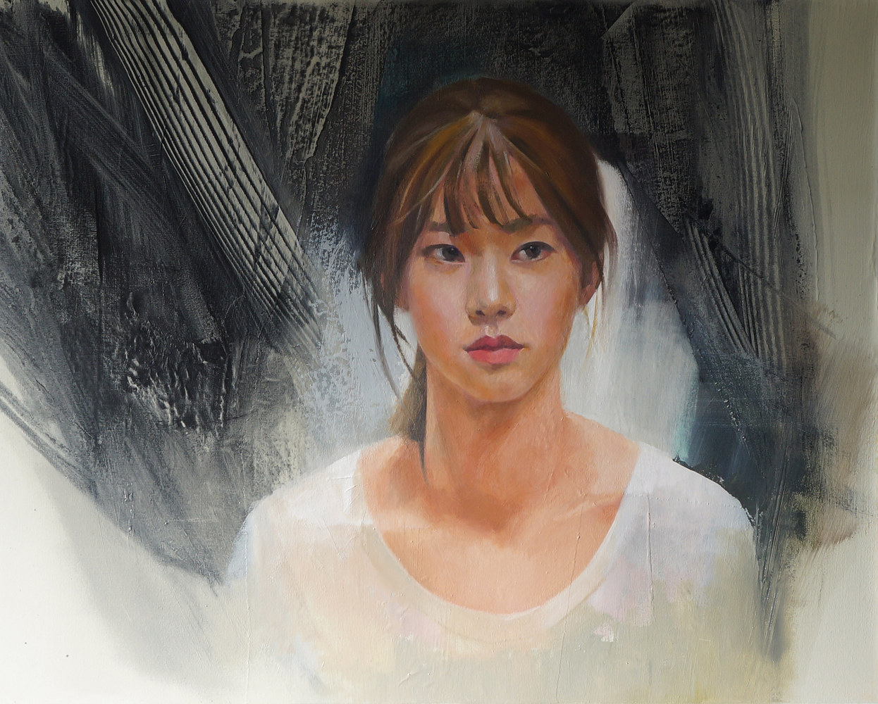 Oil painting Lady Song by Eunice Sim