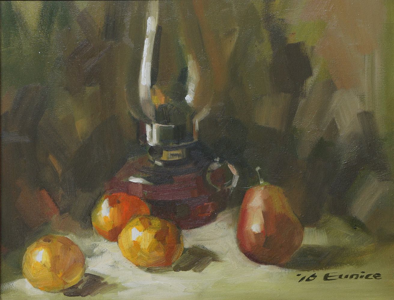 Lamp with Fruits by Eunice Sim