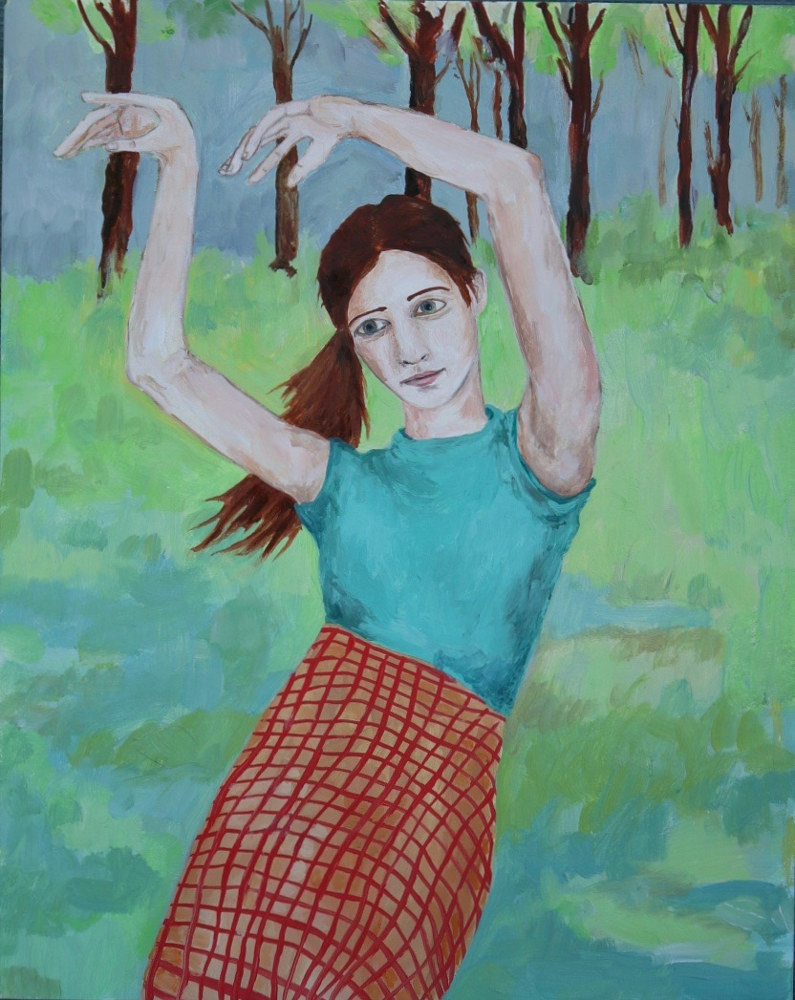 Oil painting a girl in love by Katherine Bennett