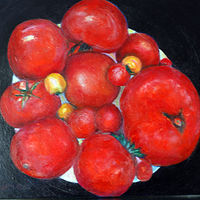 Oil painting Amy Kaufman, Tomatoes by Amy Kaufman