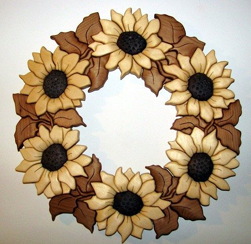 Sunflower Wreath by Vicki Allesia