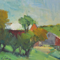 "Ivan's Barn, oil on canvas, 18"" x  24"" by Susan Horn"