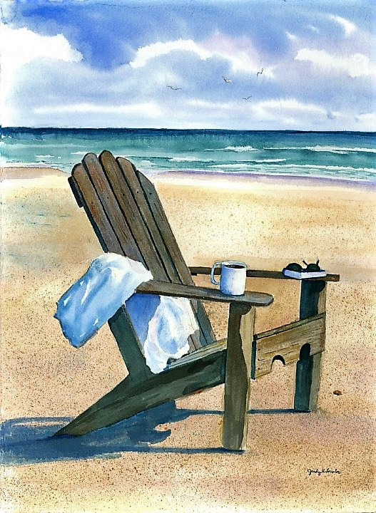Watercolor A Good Morning by Judy Fowler