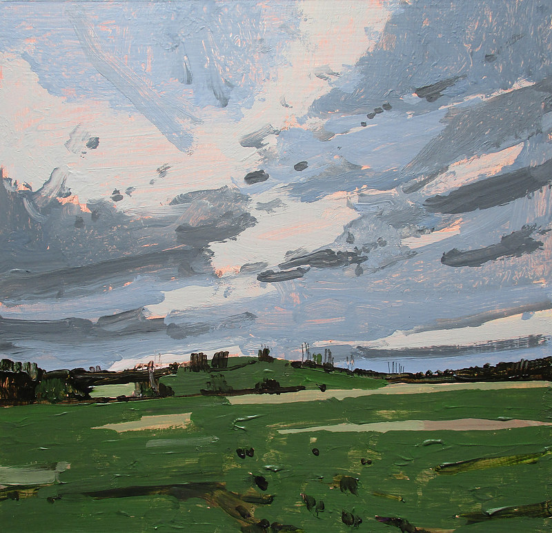 Acrylic painting Spring Field, May 10 by Harry Stooshinoff