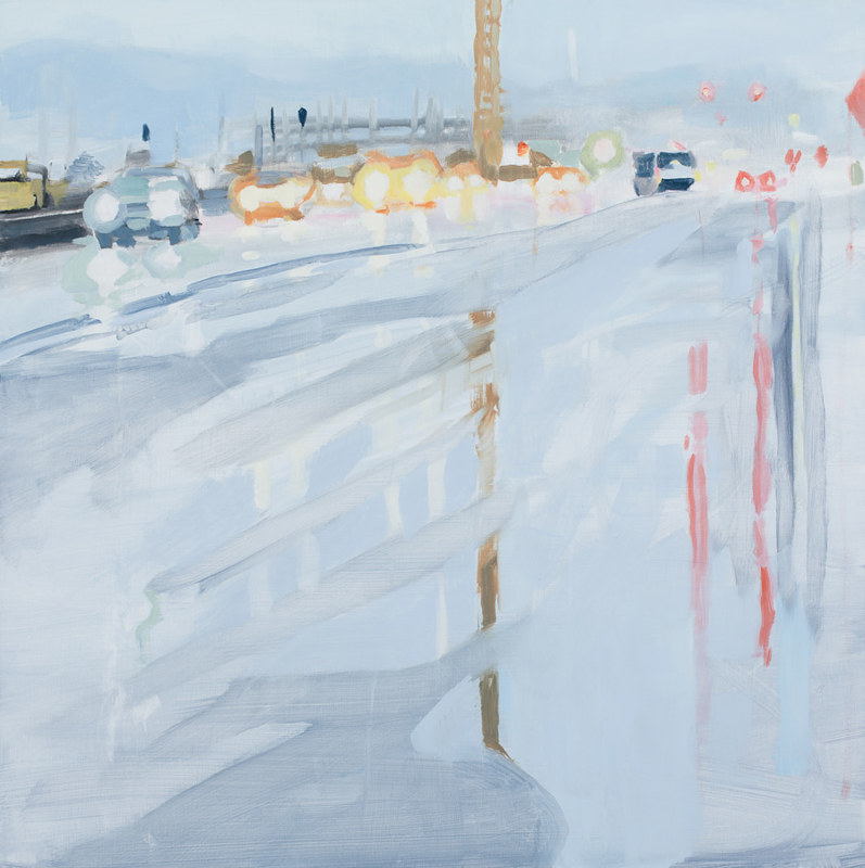 Oil painting Naito Parkway 1 by Shawn Demarest
