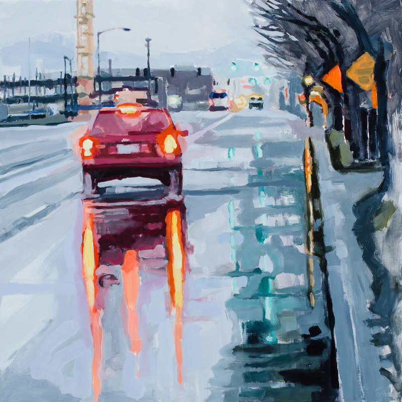 Oil painting Naito Parkway 3 by Shawn Demarest