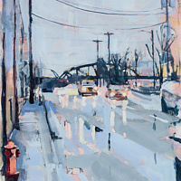 Oil painting Naito Parkway 4 by Shawn Demarest