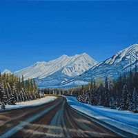 Oil painting Round the Bend by David B. Scott