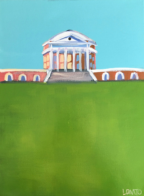 Painting UVA ROTUNDA PAINTING - DEEP SKY by Lesli Devito