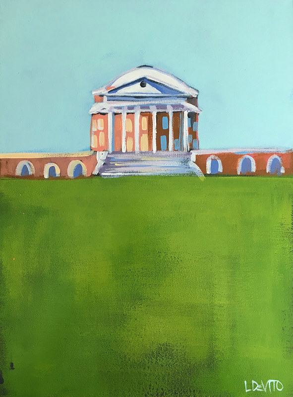 Painting UVA ROTUNDA PAINTING - SKY BLUE by Lesli Devito